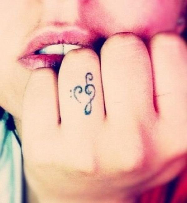 gambar tato di tangan simpel
