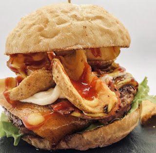 Hamburguesa de  Píkate en Pamplona