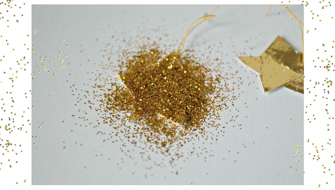 glitter on stars