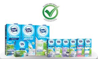 susu uht dengn logo pilihan lebih sehat
