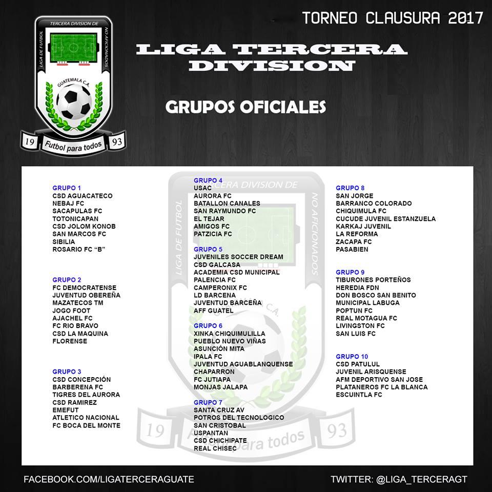 Tercera División de Fútbol de Guate