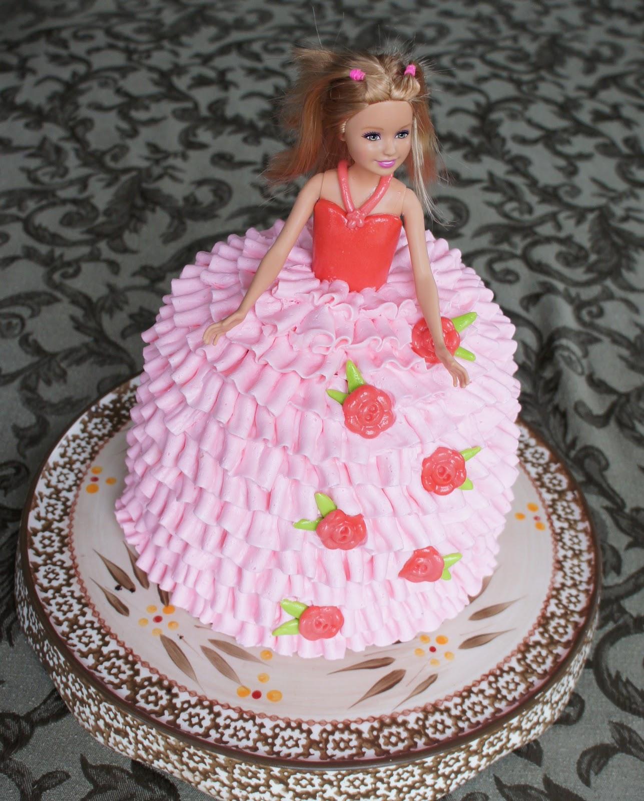 Barbie Shaped Birthday Cakes