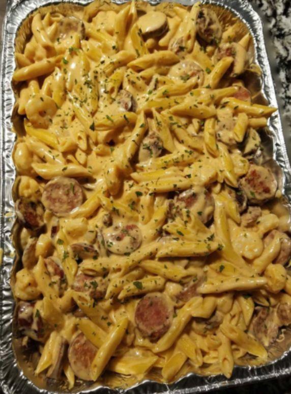 Shrimp and Andouille Sausage Cajun Pasta
