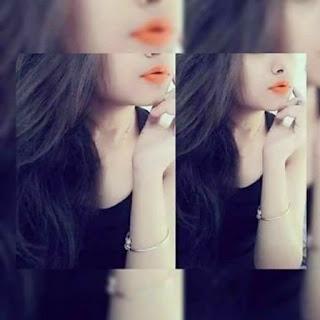 cute girl hidden face