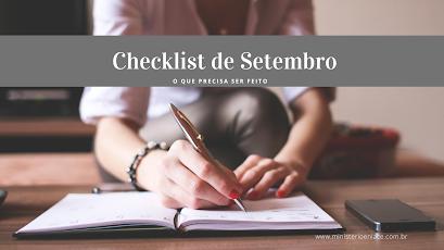 checklist de setembro