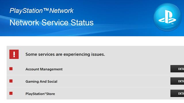 عاجل : خدمة PSN تتوقف عبر العالم و عطل على جميع الخدمات