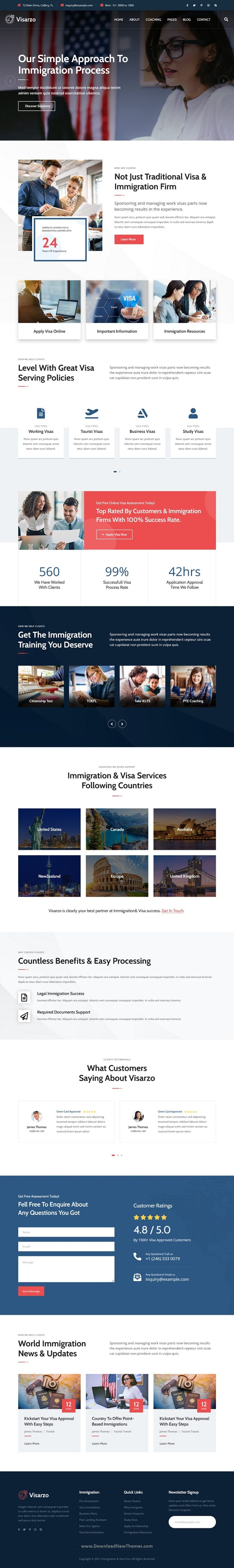 Immigration and Visa Consulting HubSpot Theme