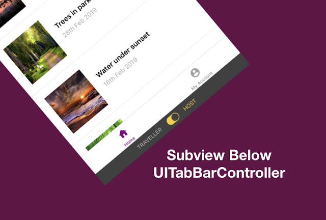 Add View below TabBar Controller in swift - iOS