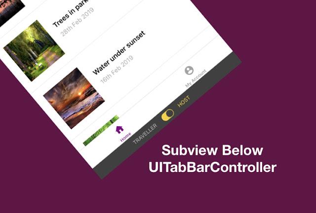 Add View below TabBar Controller in swift - iOS