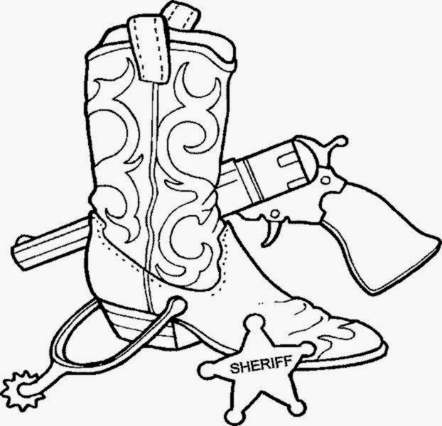 western coloring book pages - photo#23