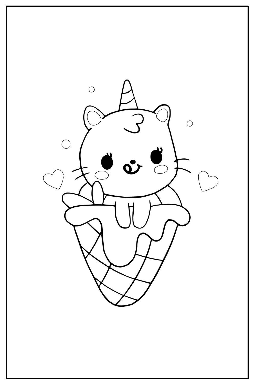Download Wallpaper Coloriage chat kawaii