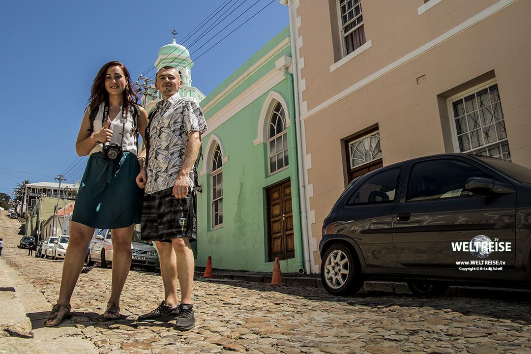 Buntes Islam Viertel Bo-Kaap in Kapstadt, Südafrika, Weltreise
