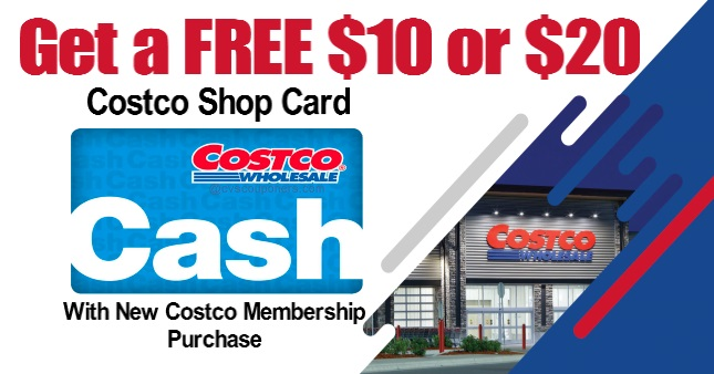 Free $20 Costco Shop Card
