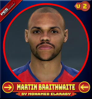 PES 2017 Faces Martin Braithwaite V2 by M.Elaraby