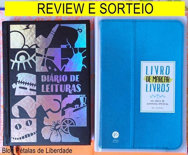 """Review e sorteio: """"Livro de Marcar Livros"""" e Diário de Leituras da TAG."""