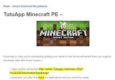 Tutuapp Minecraft PE iOS 10 Download And Install Without jailbreak