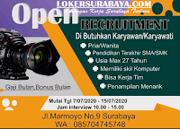 Walk In Interview at Jalan Marmoyo Surabaya Juli 2020