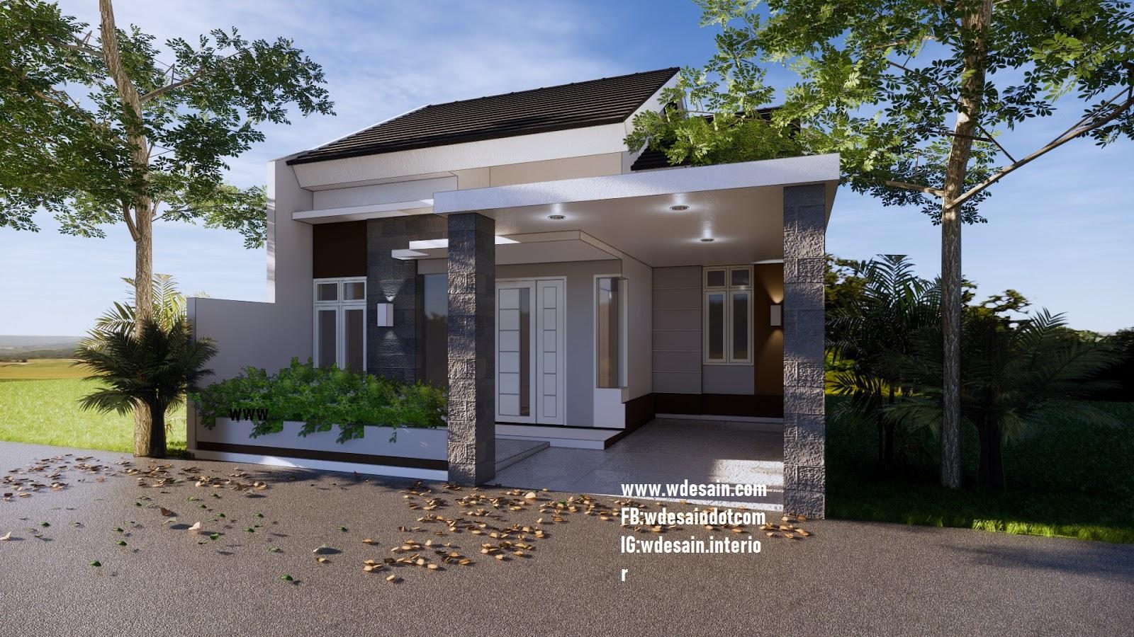 Denah Rumah Minimalis 3 Kamar 7x12 Taman Luas Desain Rumah Minimalis