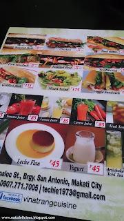 vina trang vietnamese cuisine menu 2