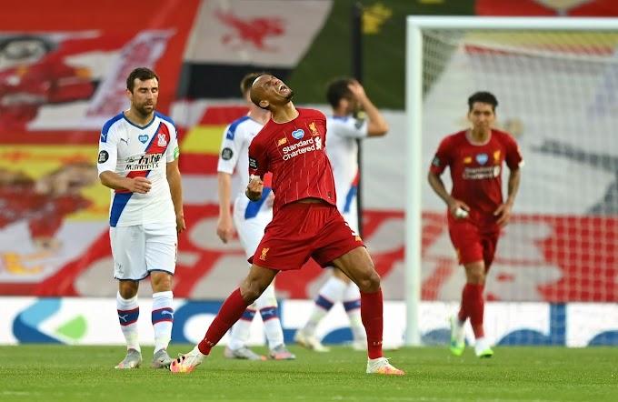 Liverpool goleia Crystal Palace com bela atuação de Fabinho e pode ser campeão amanhã