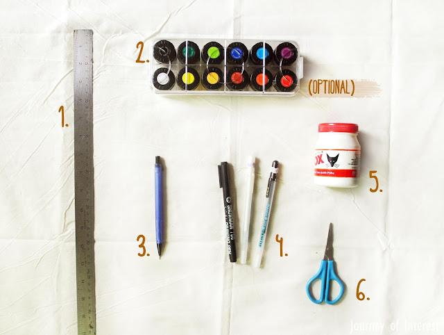 Tools to make diy gift box