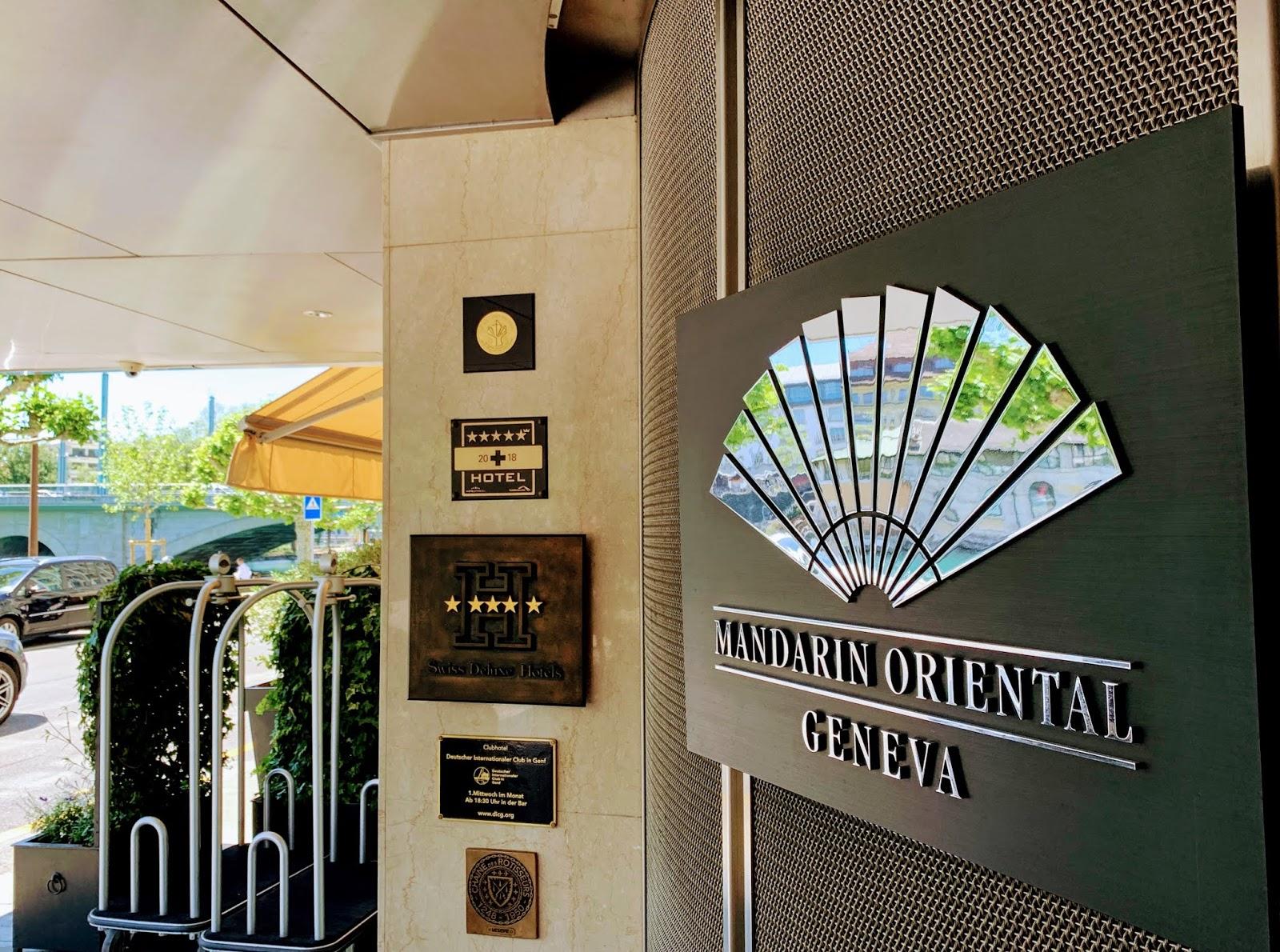 Mandarin oriental geneva entrance