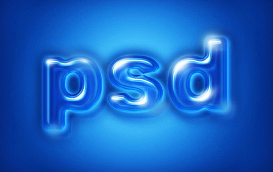 Create Glossy Plastic Text in Photoshop