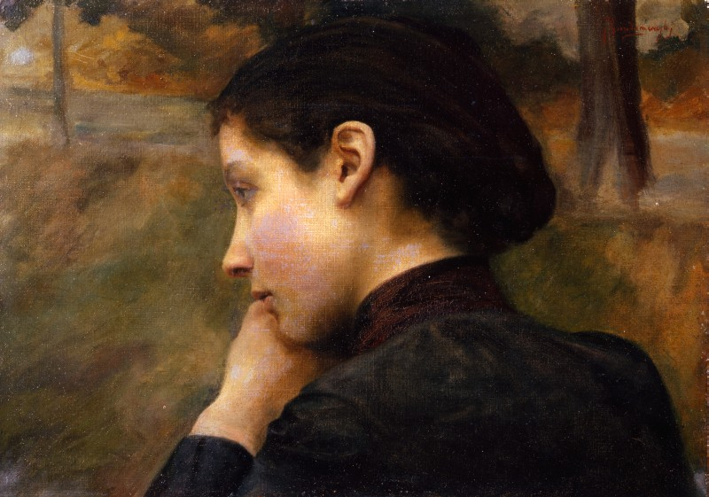 Paintings by Émile Friant