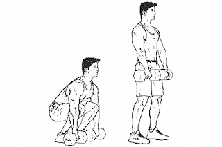 1. Dumbbell Squat