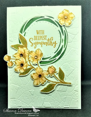 Peaceful moments, Painted Label Dies, Parisian Blossoms, Stone 3D Embossing Folder, sympathy, Saleabration 2020, Stampin' Blends, Stampin' Up, Rhapsody in craft, Art with heart