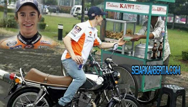Ups! Juara MotoGp Marc Marquez Jajan Bakso Bakwan Malang di Kemayoran