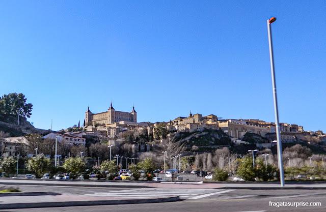 Horizonte de Toledo, Espanha, com destaque para o Alcázar
