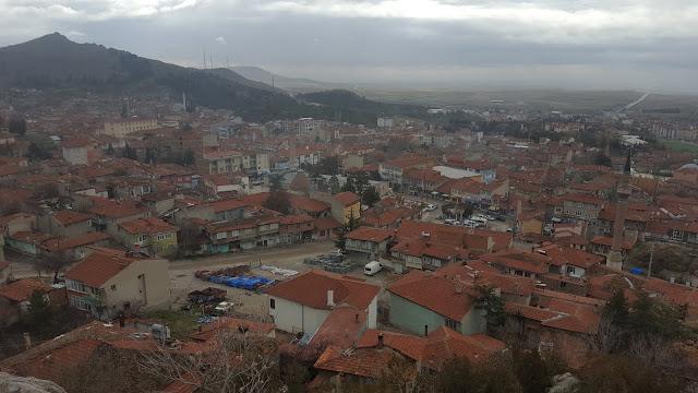 Eskişehir Sivrihisar kuş bakışı şehir manzarası