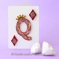 Quilling Letter Q Monogram Tutorial Pattern