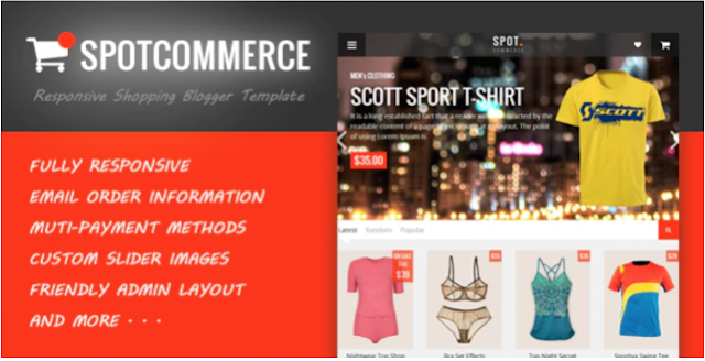 Best Blogger Template for eCommerce Website free Download