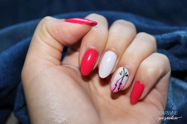 CZERWIEŃ Z DELIKATNYM KREMEM - 510 Rich Doll, 507 Crispy Cookie by Stylizacje, barwne paznokcie, semilac, jesienny manicure, czerwone paznokcie, jesień, manicure hybrydowy