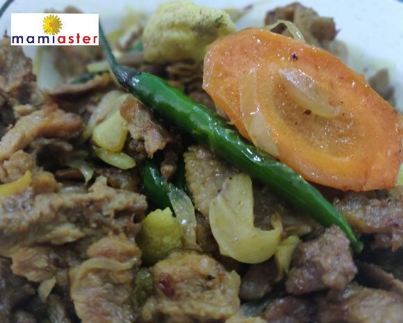 Resepi Daging Goreng Kunyit Yatie Kitchen