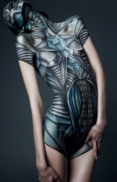 body painting girl
