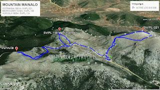 ΜΑΙΝΑΛΟ - Η ΔΙΑΔΡΟΜΗ ΜΑΣ ΜΕ GPS