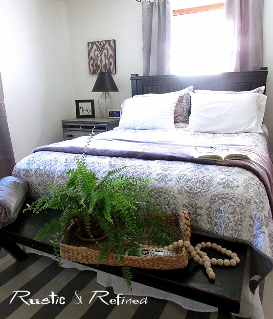Thrifting and souring clearance sales, to design the master bedroom on a budget.