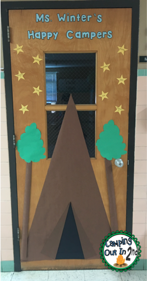 Classroom Decorating Ideas Camping Theme : Camping out in second classroom reveal