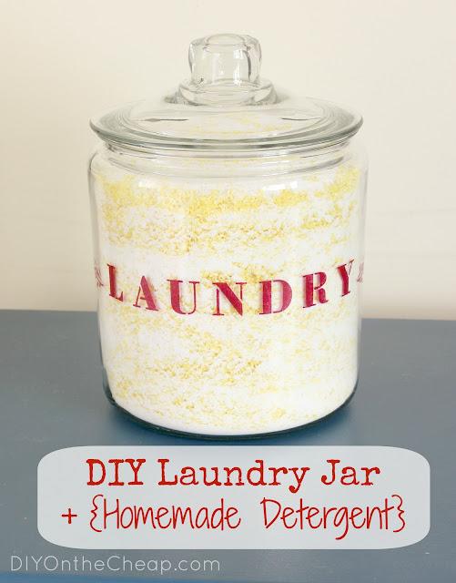 DIY Laundry Jar + {Homemade Detergent}