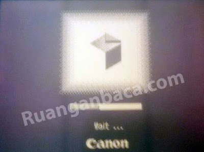 mesin fotocopy canon IR loading procesing terus