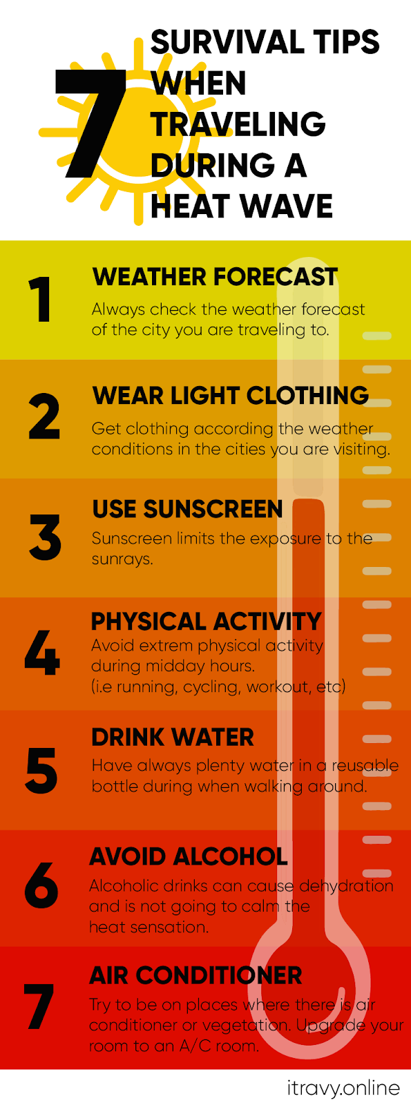 7 Survival Tips when Traveling During a Heat Wave