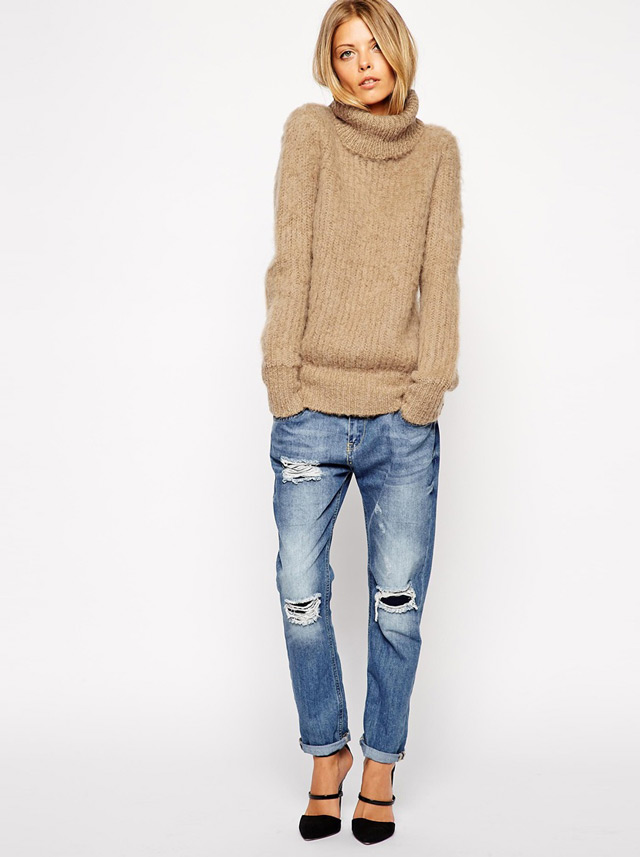 fall winter trendy styles - oversized polo neck jumper