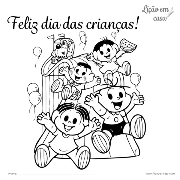 Desenhos para colorir dia das crianças