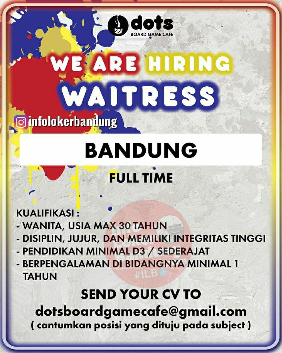 Lowongan Kerja Dots Board Game Cafe Bandung Mei 2021