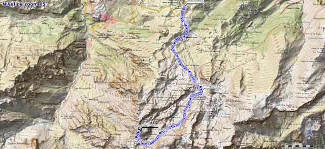 Mapa de la ruta al Valdominguero