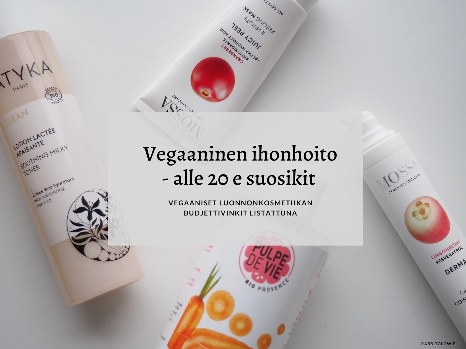 vegaaninen ihonhoito