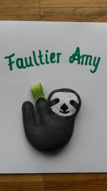 Anhänger Faultier Amy aus Filz